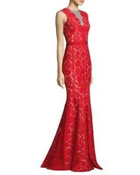 Theia Floral Lace Mermaid Gown