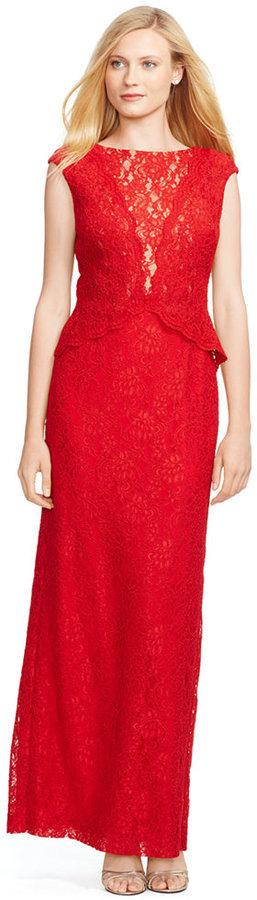 Lauren Ralph Lauren Lace Popover Gown | Where to buy & how to wear