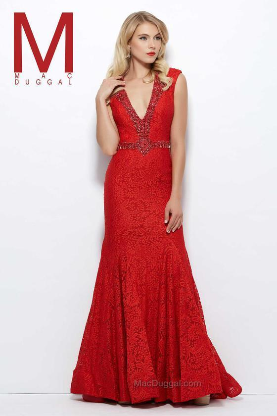Mac Duggal Evening Gowns Mac Duggal 61930 R Red | Where to buy & how ...