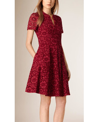 Burberry French Lace A Line Dress