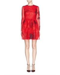 Nobrand Lamour Heart Panel Chantilly Lace Dress