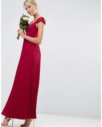 Wedding lace and pleat maxi dress medium 849740