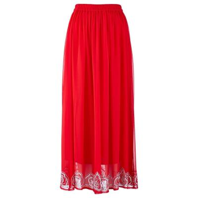 bpc selection Sequin Hem Maxi Skirt In Red Size 20 | Where to buy ...