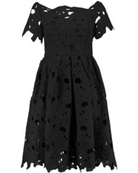 ecec5dc7fdc8 ... Boohoo Boutique Lisa Off Shoulder Lace Skater Dress ...
