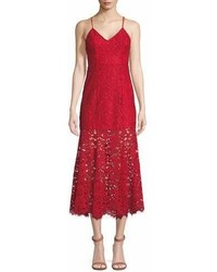 NBD Brielle Lace Slip Dress W Flounce Hem