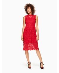 Kate Spade Poppy Lace Midi Dress