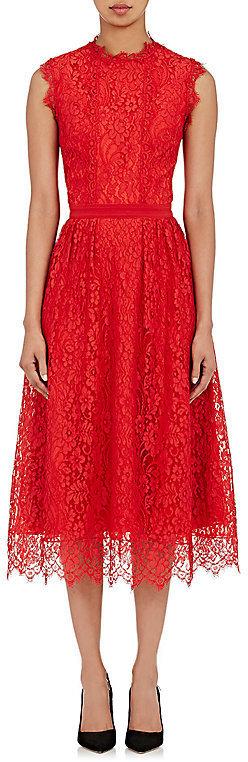 Sophia Kah Corded Lace Midi Dress