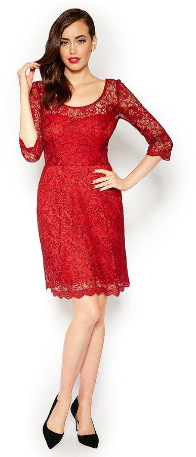 Betsey Johnson Betsey Red Lace Dress Where To Buy How To Wear