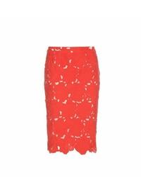 Alice + Olivia Farrel Lace Pencil Skirt