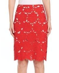 Alice + Olivia Farrel Midi Pencil Skirt