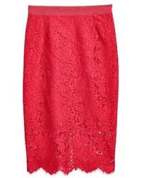 H&M Lace Pencil Skirt