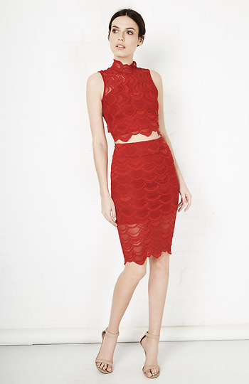 bae2e65005ab Nightcap Victorian Lace Pencil Skirt, $252 | DailyLook | Lookastic.com