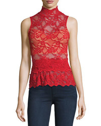 Lace peplum sleeveless top scarlett medium 815844