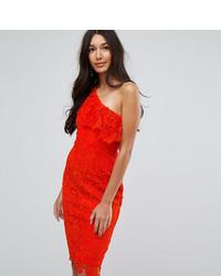 Paper Dolls Tall One Shoulder Crochet Lace Dress