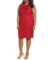 Tahari Shimmer Lace Sheath Dress