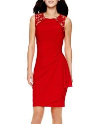 4f742207 jcpenney Scarlett Cap Sleeve Lace Sheath Dress Out of stock · Stenay Sleeveless  Lace Shoulder Sheath Dress