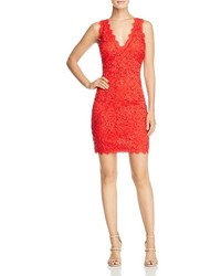 Aqua V Neck Lace Sheath Dress 100%