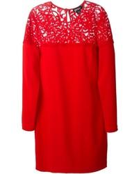 DKNY Lace Panel Shift Dress