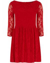 34 sleeve lace skater dress medium 66368