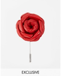 Asos Designsix Flower Lapel Pin To