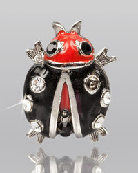 Jay Strongwater Black Ladybug Tack Pin