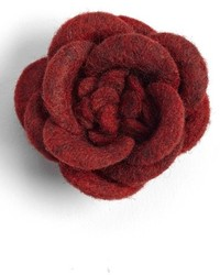 Hook Albert Wool Flower Lapel Pin