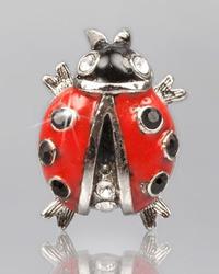 Jay Strongwater Red Ladybug Tack Pin