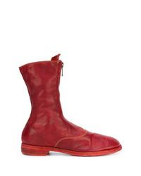 Guidi Front Zip Calf Length Boots