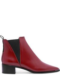 Acne Studios Jensen Leather Ankle Boots Brick