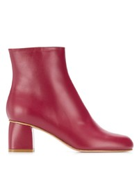 RED Valentino Round Toe Ankle Boots