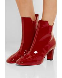 c8851c79c8ee ... sweden christian louboutin tiagada 70 patent leather ankle boots claret  815ed d44a6