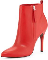 Pour La Victoire Zane Leather Ankle Boot Red