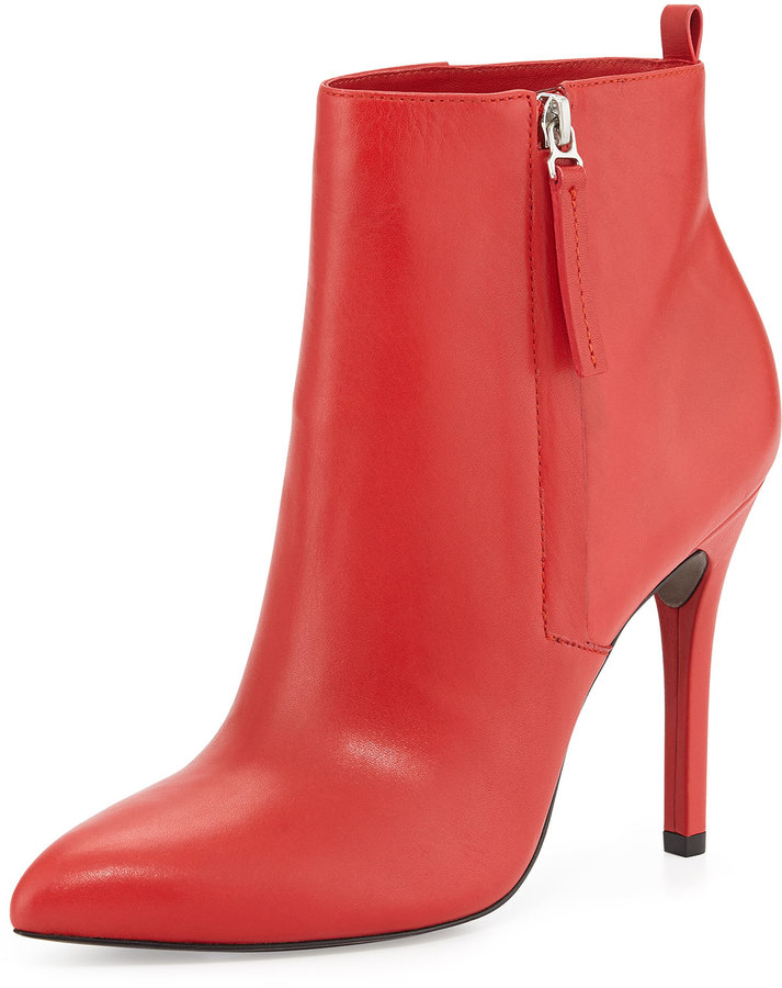 Pour La Victoire Zane Leather Ankle Boot Red | Where to buy & how ...