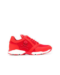 Red Leather Athletic Shoes