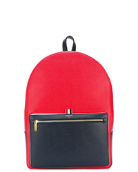 Thom Browne Color Blocked Unstructured Leather Backpack