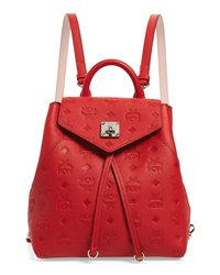 MCM Essential Monogram Leather Small Backpack