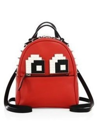 Les Petits Joueurs Mick Eyes Micro Spiked Leather Mini Backpack