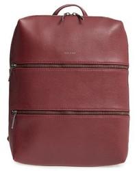 Matt & Nat Slate Faux Leather Backpack Black