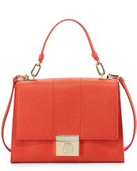 Missoni Lock Flap Top Small Leather Shoulder Bag Corallo