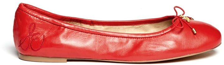 ef31d8e0b ... Red Leather Ballerina Shoes Sam Edelman Felicia Leather Ballet Flats ...