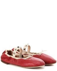 Valentino Garavani Rockstud Ballet Leather Ballerinas