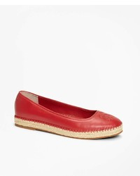 Brooks Brothers Leather Espadrille Flats
