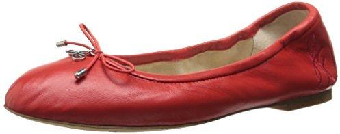 8f6dc92522efaa ... Red Leather Ballerina Shoes Sam Edelman Felicia Ballet Flat
