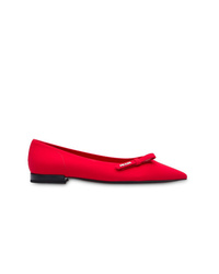 Prada Technical Pointed Ballerina Flats