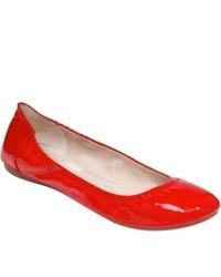 Vince Camuto Ellen Tango Red Soft Cow Patent Ballet Flats