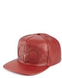 Salvatore Ferragamo Leather Baseball Cap