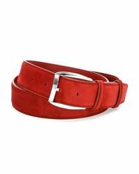 Stefano Ricci Calf Leather Belt Red