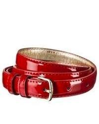 Circa Merona Patent Belt Red Xs