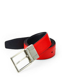 Saks Fifth Avenue Collection Two Toned Reversible Saffiano Leather Belt