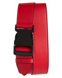 Alexander McQueen Logo Clip Leather Belt